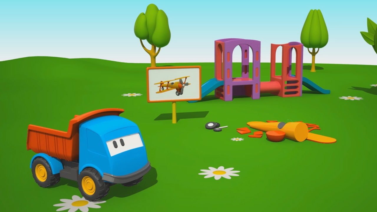 Cartoni animati per bambini leo il camion curioso e un
