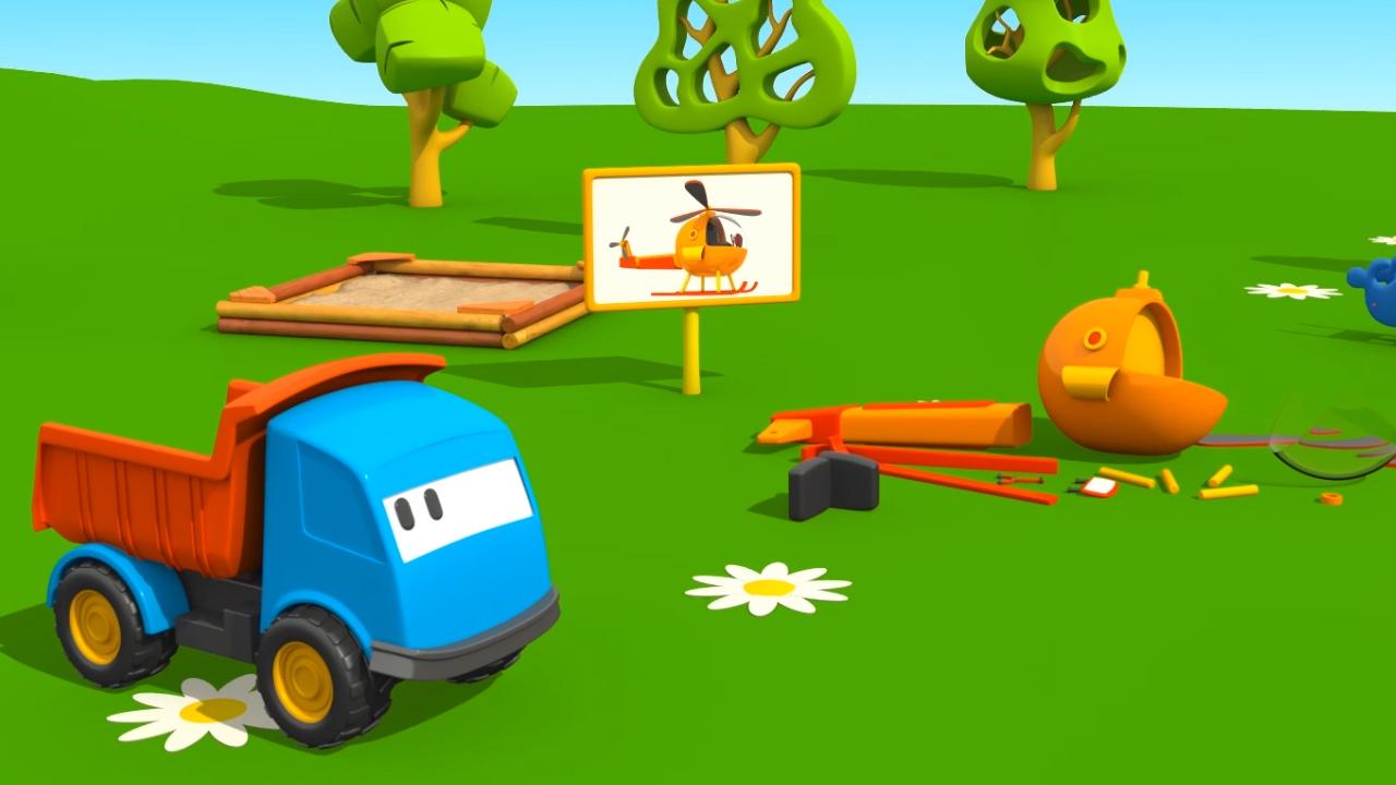 Leo e l elicottero u cartoni animati per bambini u il cartone dei