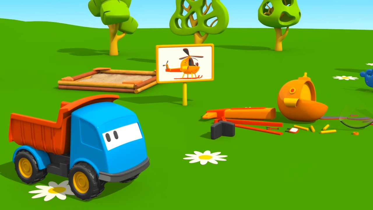 Leo e l elicottero cartoni animati per bambini il