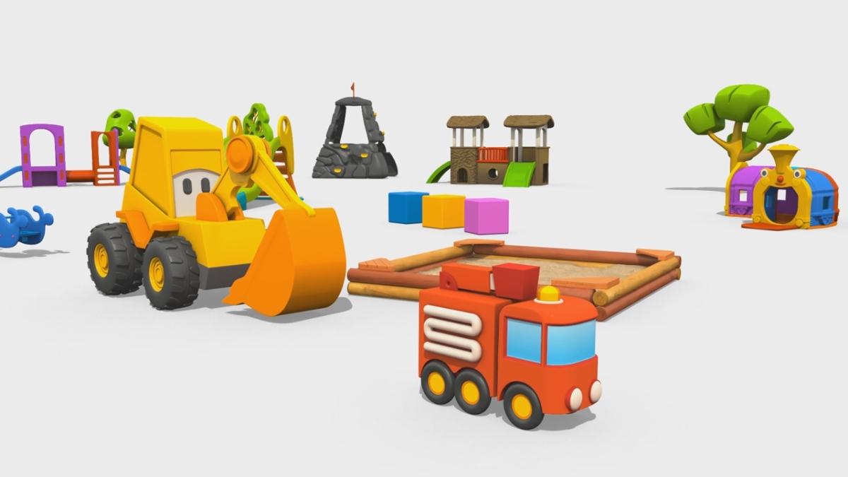 Cartoni animati per bambini max l escavatore e il camion