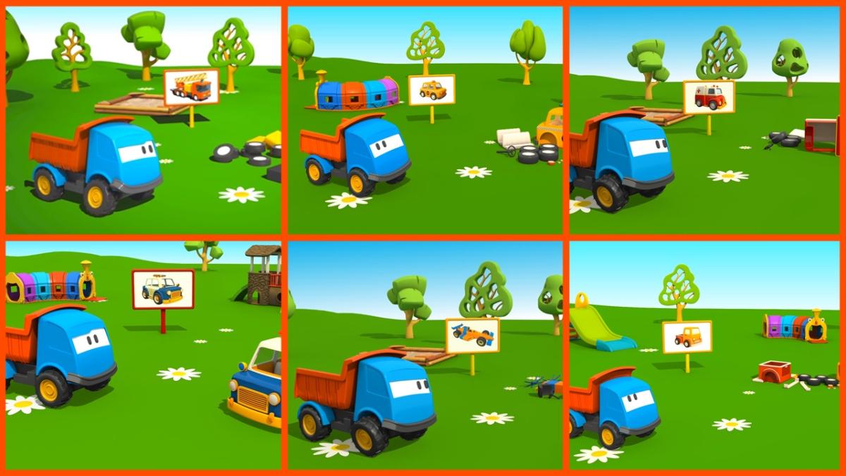 Cartoni animati per bambini leo il camion curioso gioca