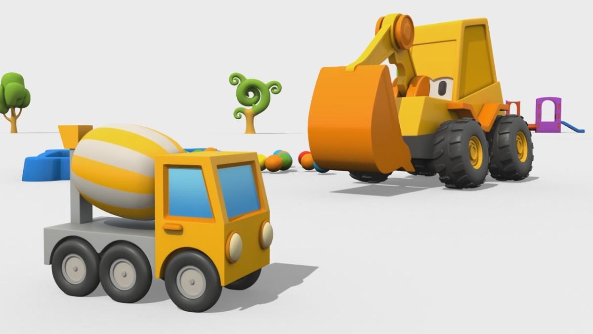 Cartoni animati per bambini max l escavatore come si fa
