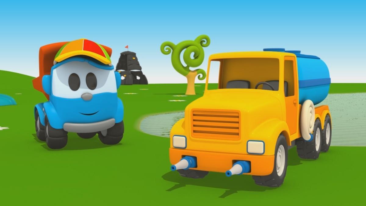 Cartoni animati per bambini leo junior e l autobotte for Case facili da costruire
