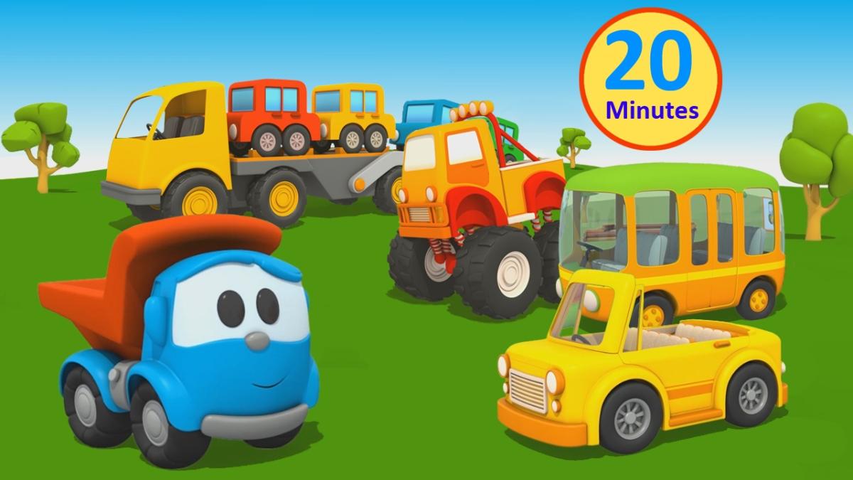 Cartoni animati per bambini camioncino leo macchine e