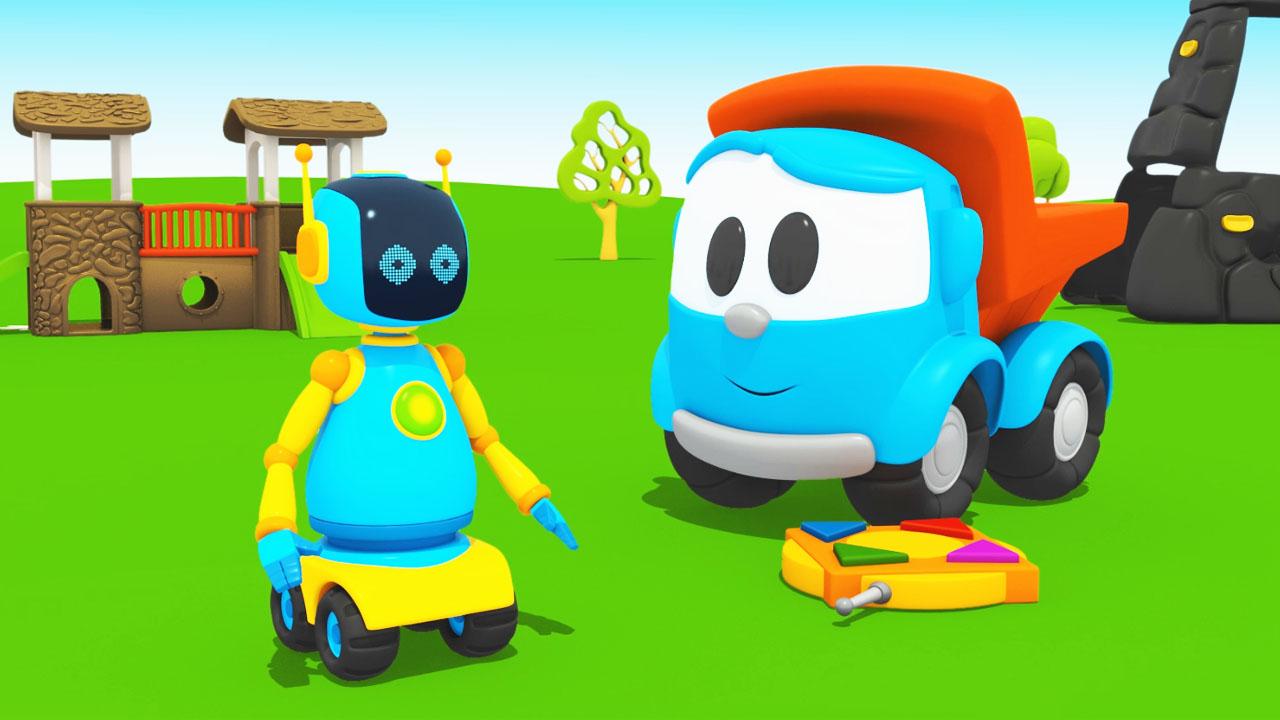 Leo junior e il robot cartone dei piccoli