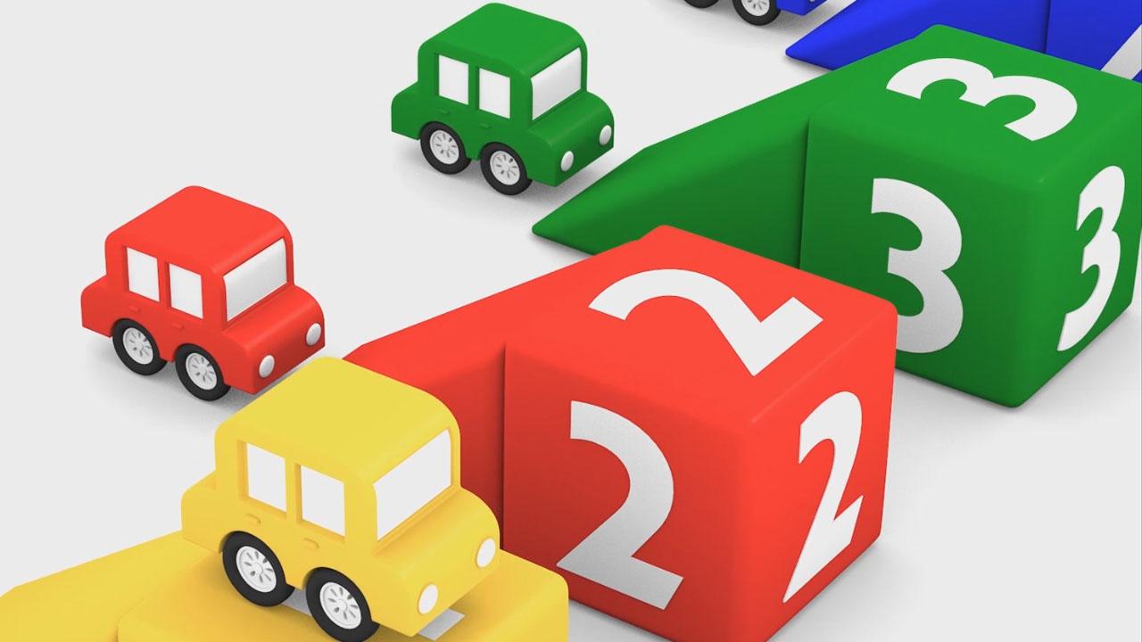 Macchinine colorate colori e numeri il cartone dei piccoli