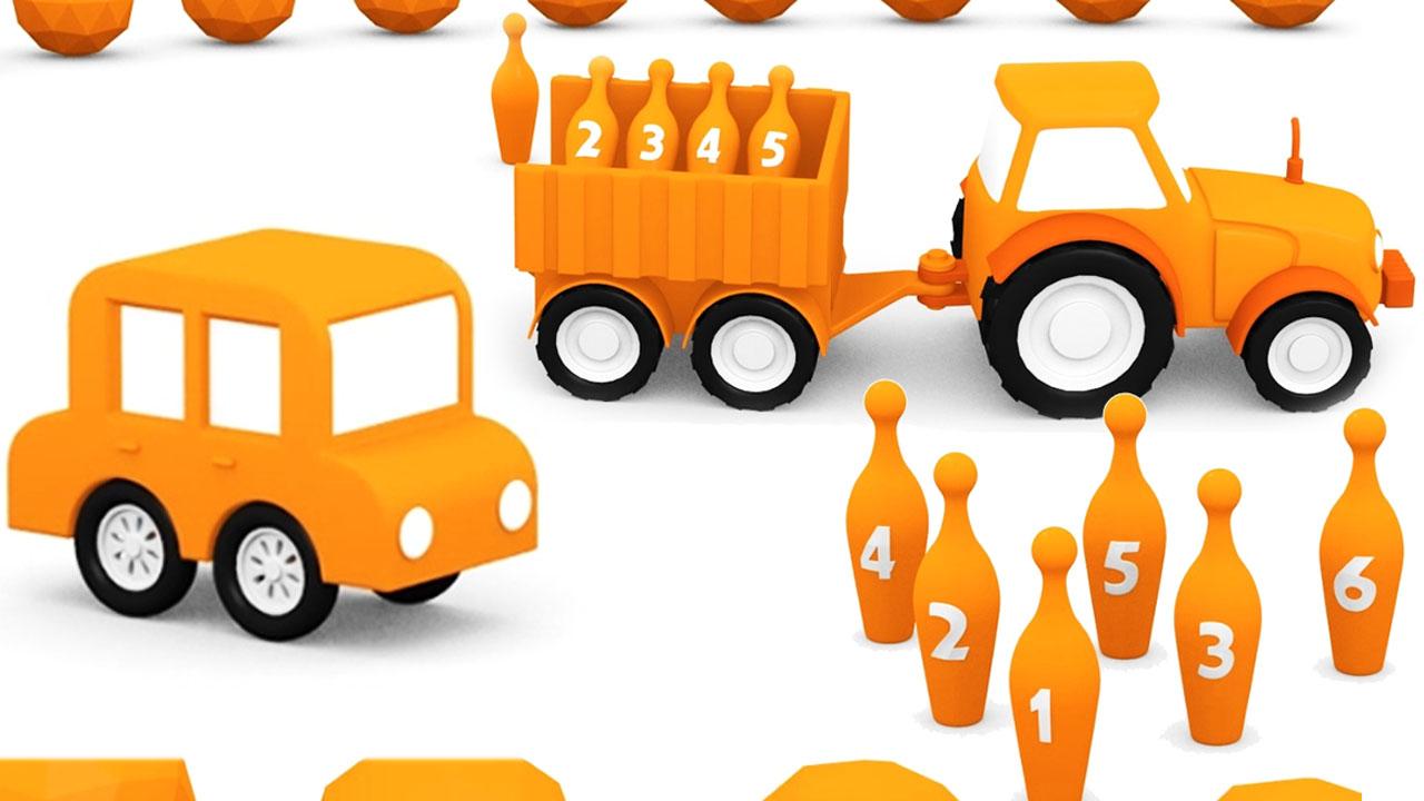 Le macchinine colorate e il colore arancione cartone