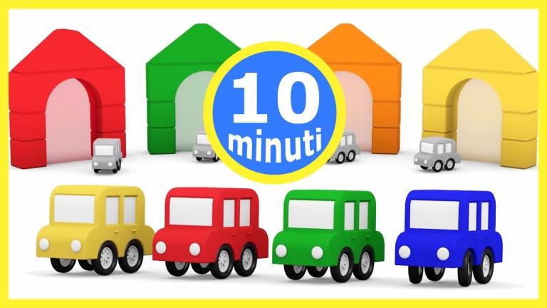 Cartoni animati per bambini 4 macchinine colorate e 4 - Animali dei cartoni animati a colori ...