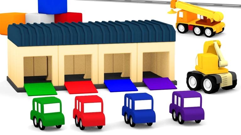 Macchinine colorate il garage cartone dei piccoli
