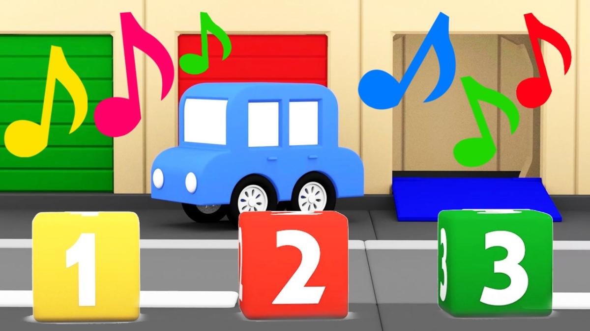 Macchinine colorate canzoni dei colori e numeri il