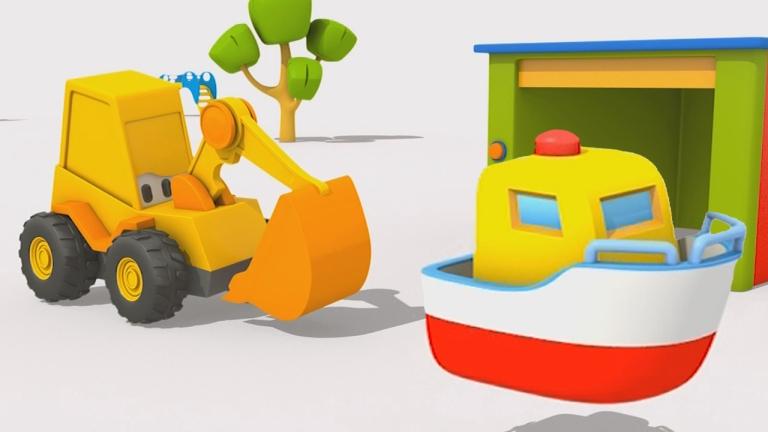 Cartoni animati per bambini l escavatore max e la barca